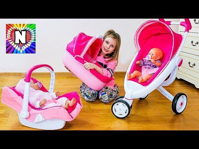 ДЕТСКАЯ КОЛЯСКА 3 в 1 Дочьки матери с Куклой Беби Бон НАСТЯ КАК МАМА Funny Baby Playing with Doll