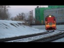 Поезд на МКЖД возле загородного шоссе (Эксклюзивные кадры)