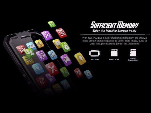 HOMTOM ZOJI Z8 IP68 Waterproof 4G Smartphone 5.0 HD Octa Core Android 7.0 4GB64GB 4250mAh 16MP