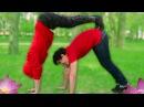 ЙОГА ЧЕЛЛЕНДЖ с ДРУГОМ | Yoga Challenge | Пушистый Волк и Милс Кел