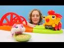 Die Wunderbox - Der Zug bekommt neue Gleise - Spielzeugvideo für Kinder