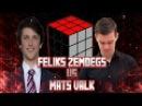 Feliks Zemdegs VS Mats Valk ● 2x2 ● 3x3 ● 4x4 ● 5x5 ● 6x6 ● 3x3 One Handed