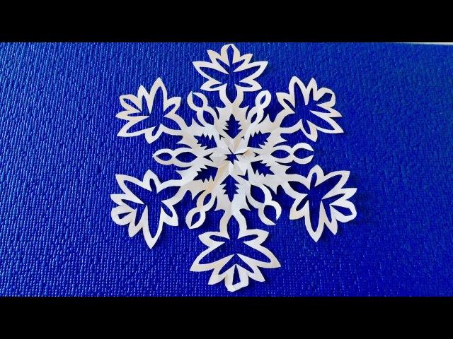 ✨Как просто вырезать красивую снежинку из бумаги✨