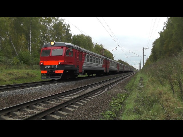 Электропоезд ЭР2К-1116 перегон Чехов - Столбовая