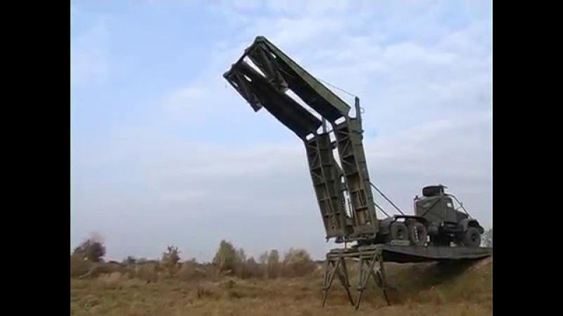 ТММ-3 в действии Тяжелый механизирований мост