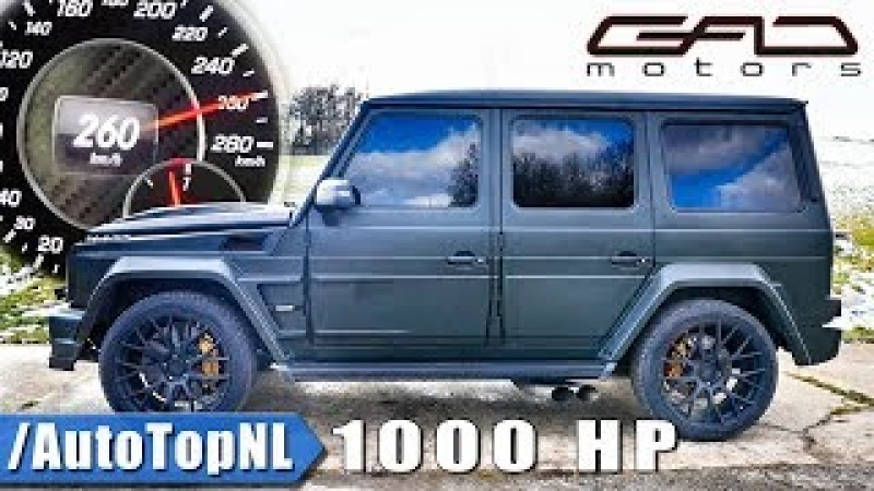 1000HP Mercedes G63 AMG by GAD | 260km/h on AUTOBAHN ACCELERATION SOUND by AutoTopNL