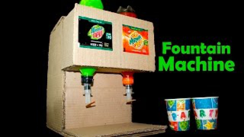 How To Make Fanta And Mountain Dew Fountain Machine At Home