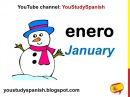 Spanish Lesson 12 - MONTHS OF THE YEAR in Spanish for kids Los meses del año para niños