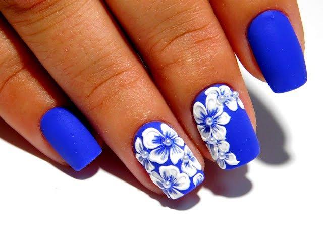 ТОП удивительный дизайн ногтей Маникюр гель лаком Объемные цветы