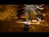 В Саратовской области водители выстроили елку из автомобилей