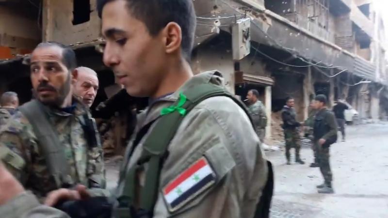 Контрнаступление Сирийской армии против нападения террористов Daesh на район ат-Тадамон на юге Дамаска