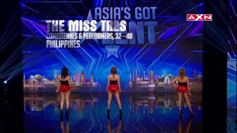 Singing Trio Miss Tres on Asias Got Talent 2015