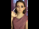 Макияж smoky eyes с использованием пигментов