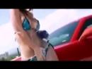 Car Chevrolet Camaro and sexy girl