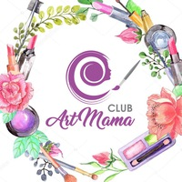 """Логотип """"ART Mama"""" Макияж Брови Визаж Обучение / Тюмень"""