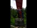 Испытание самодельной верёвочной лестницы