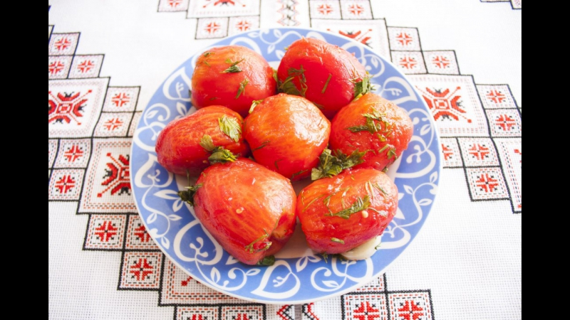 Квашені помідори без шкірки Квашеные помидоры без кожицы