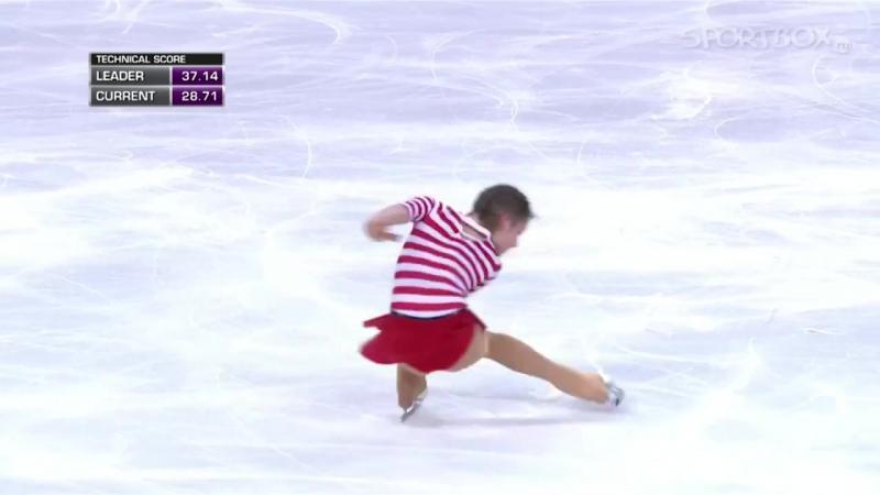 [14-15] Юлия Липницкая Trophee Eric Bompard 2014 Короткая программа 21.11.14