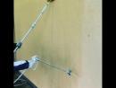 Работа STORCH AirLess и малярного валика с подкладкой