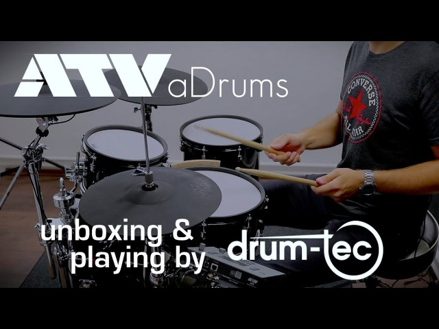 ATV aDrums electronic drums unboxing first playing by drum tec