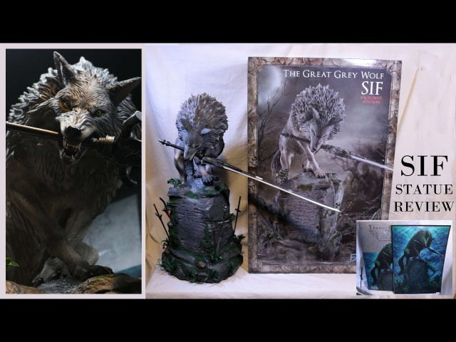 Dark Souls SIF the Great Grey wolf exclusive statue unboxing review