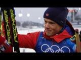 Ankermann Johannes Høsflot Klæbo etter OL-GULL i stafett - Pyeongchang 2018