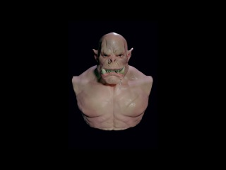 | SpeedSculpt Orc Warcraft style (The movie) | Blender | TimeLapse |