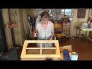Как профессионально окрасить мебельный фасад окно одной кистью