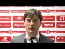 Montella: Ha sido la mejor media hora que hemos hecho desde que llegué . Sevilla FC. 25/02/18