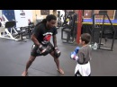 Dewey Cooper complete training lesson with young kid