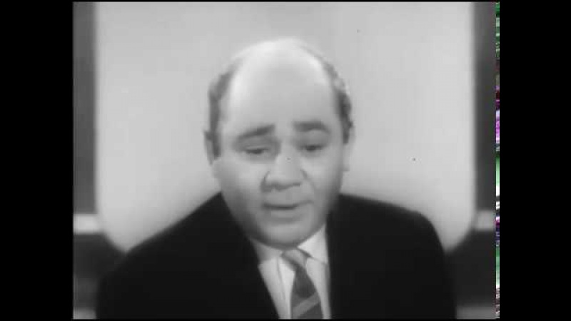 Интервью с Петром Глебовым и Евгением Леоновым. Фрагмент передачи «Кинопанорама», 1963г.
