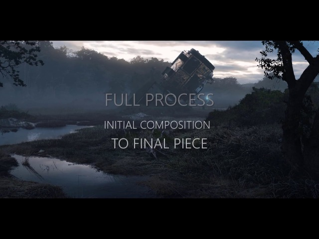 Photo-real Concept Art - Process Timelapse