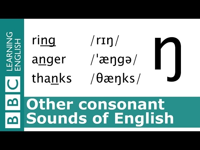 Say ring, anger and thanks. Other Consonants. Pronunciation Tips.