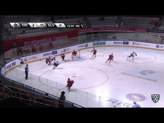 Моменты из матчей КХЛ сезона 16/17 • Интересный момент. Травму получил Ржепик Михал (Слован) 13.09