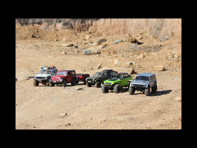 RC4WD TRX4 Axial II Axial race in stone