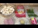 Паста фетучини с курицей и грибами под сливочно-сырным соусом