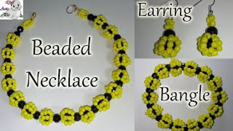 41 How to Make Beaded Necklace Earring Bangle Set Diy Jewellery Making