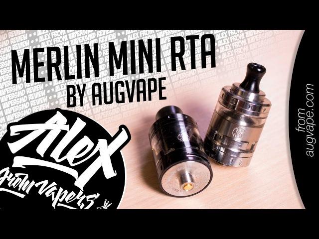 Merlin Mini RTA Black l by Augvape l тугая и свободная затяжка