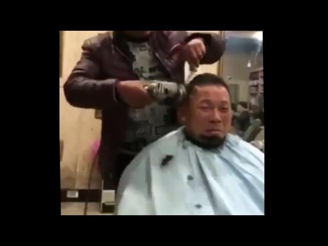 Подстриг голову болгаркой