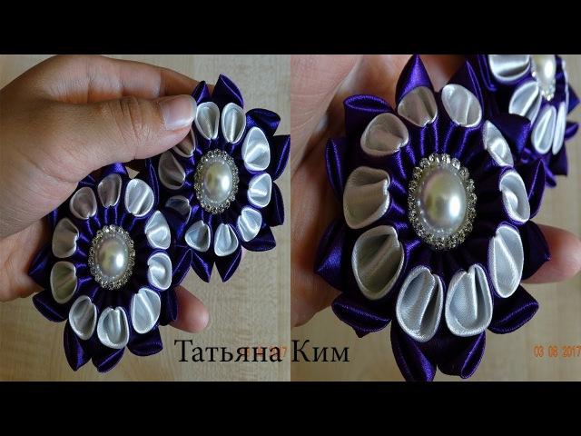 Резиночки Канзаши/Цветок Канзаши/Kanzachi rubber bands/簪