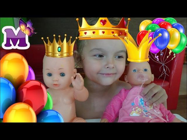 КУКЛА БЕБИ БОН и кукла КАТЯ отмечают ДЕНЬ РОЖДЕНИЯ В АКВАПАРКЕ cartoon for children and kids