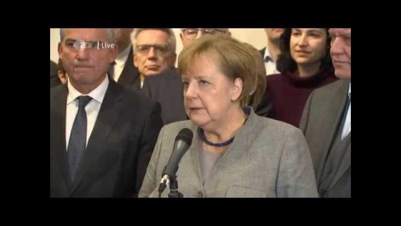 Merkel SAUER über Scheitern von Jamaika