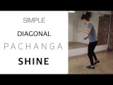 Pachanga Simple Diagonal Shine Salsa Footwork Lesson 25#