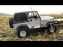 Rc scale 4x4 Tamiya Jeep Wrangler Yj on MST CMX chassis village run