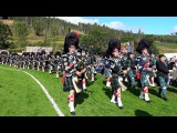 Lonach Gathering 2017 - Massed Pipe Bands &amp Highlanders afternoon games field parade in 4K