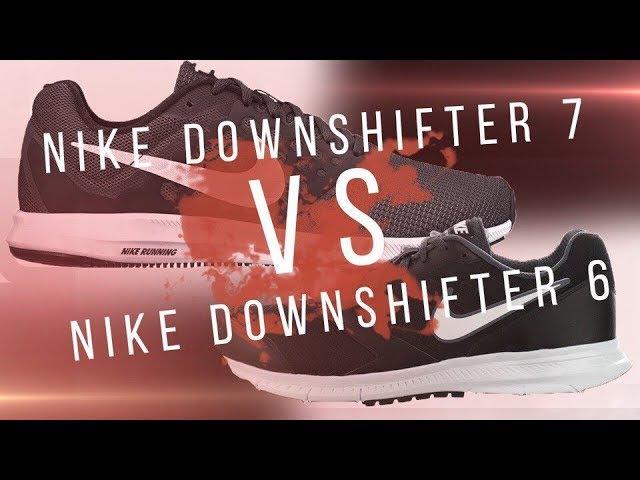 Кроссовки Nike Downshifter 6 против Nike Downshifter 7