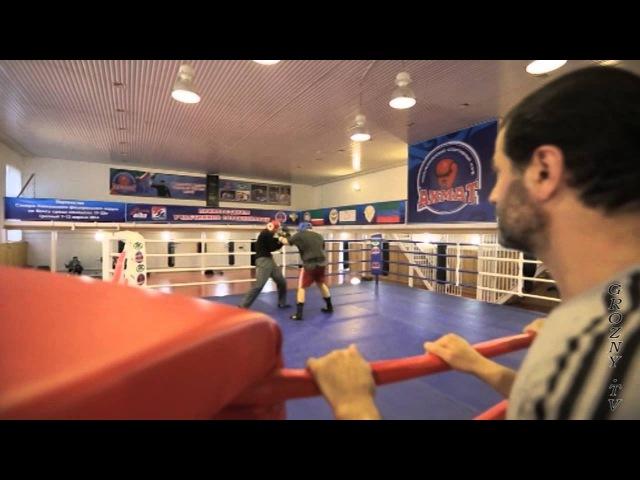 Руслан Чагаев и Рамзан Кадыров на ринге