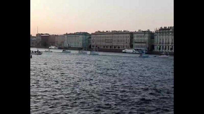 Река Нева,белые ночи. 10.07.2017