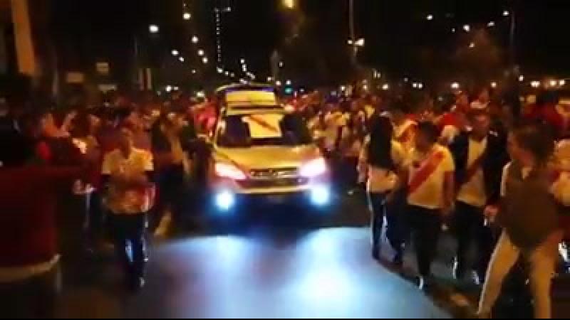 El Perú celebra la clasificación al mundial Rusia2018 después de 35 años!