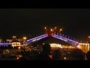 Развод моста вид с Невы